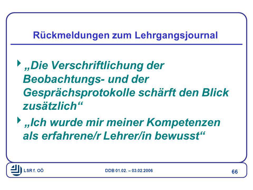 Rückmeldungen zum Lehrgangsjournal