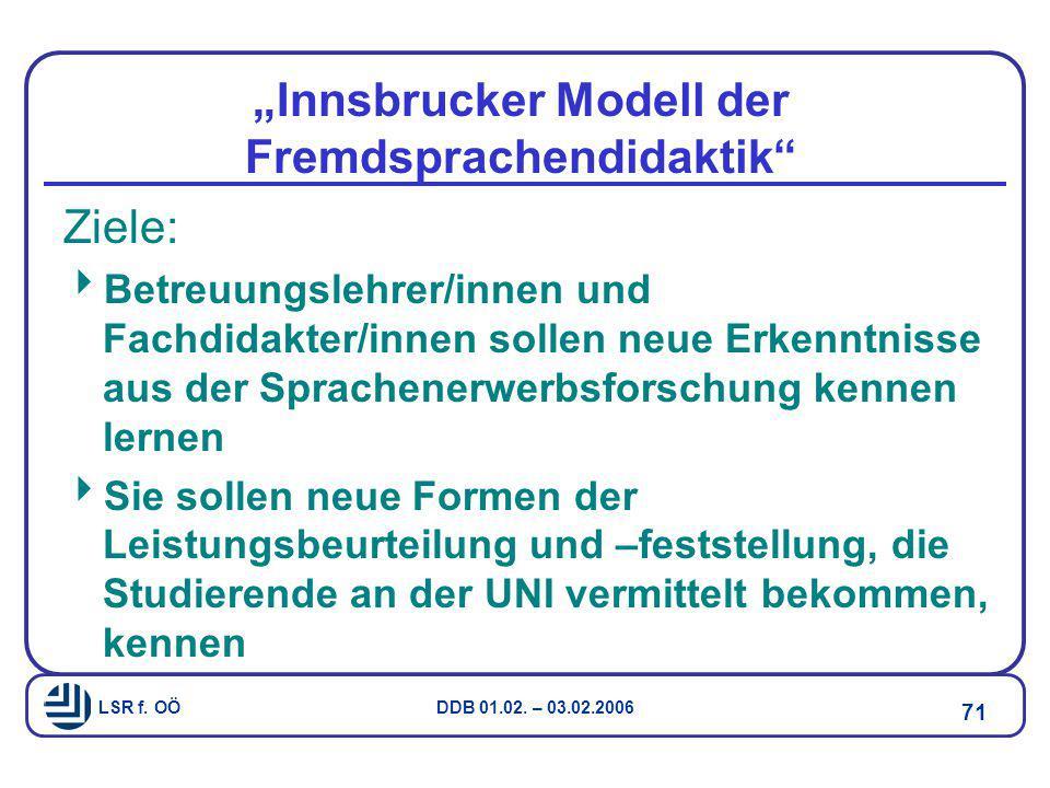 """""""Innsbrucker Modell der Fremdsprachendidaktik"""