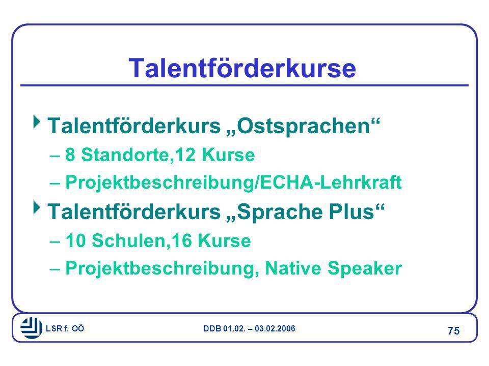"""Talentförderkurse Talentförderkurs """"Ostsprachen"""