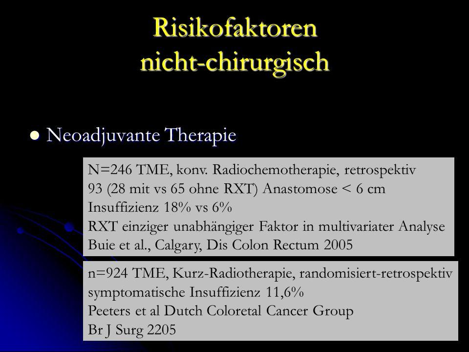 Risikofaktoren nicht-chirurgisch