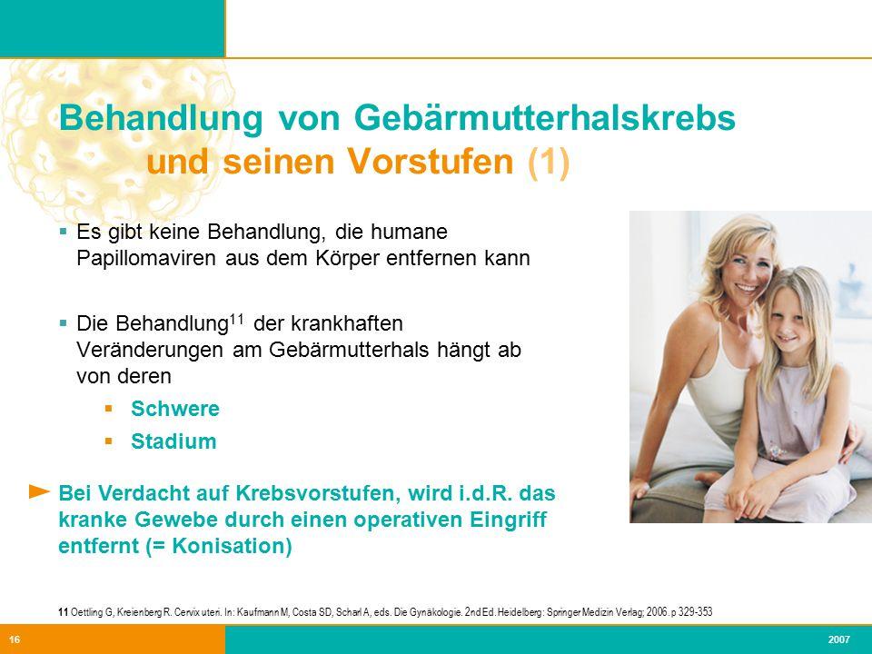 Behandlung von Gebärmutterhalskrebs und seinen Vorstufen (1)