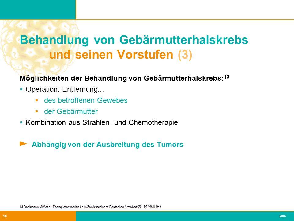 Behandlung von Gebärmutterhalskrebs und seinen Vorstufen (3)
