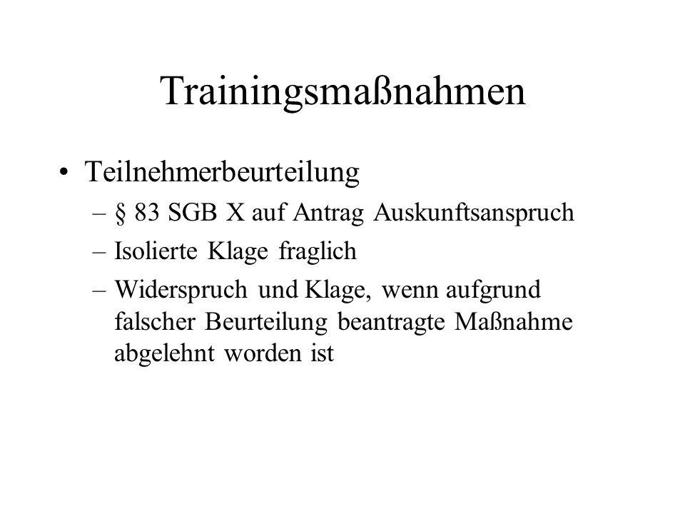 Trainingsmaßnahmen Teilnehmerbeurteilung