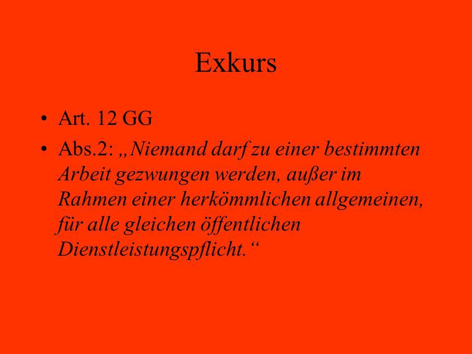 Exkurs Art. 12 GG.