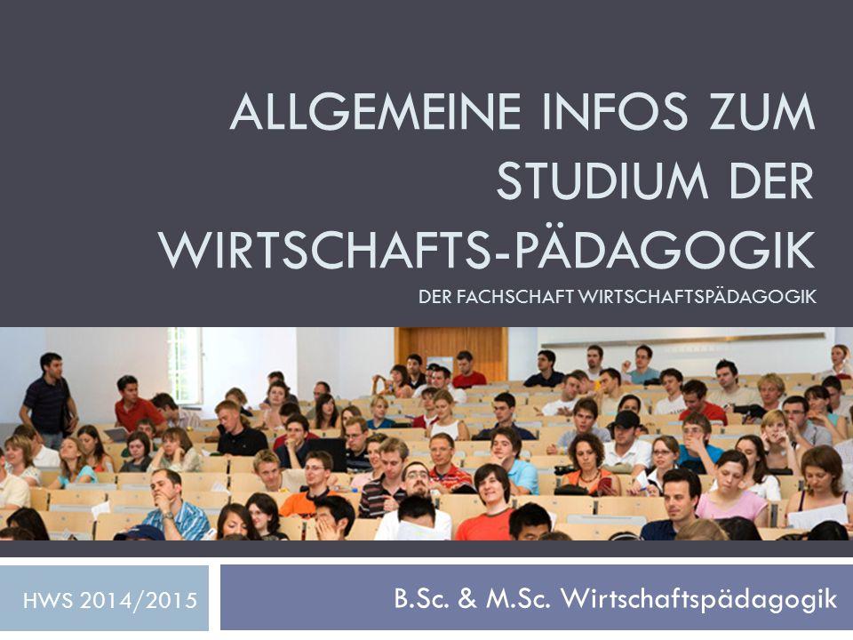 B.Sc. & M.Sc. Wirtschaftspädagogik