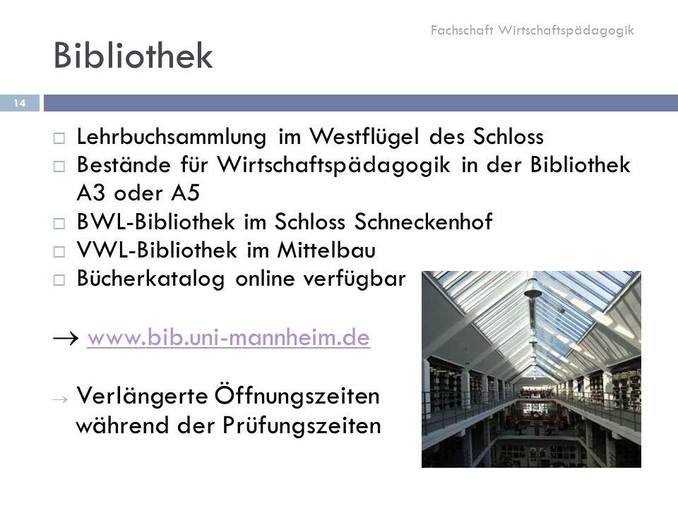 Bibliothek  www.bib.uni-mannheim.de Verlängerte Öffnungszeiten