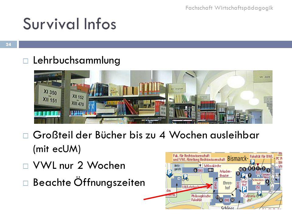 Survival Infos Lehrbuchsammlung