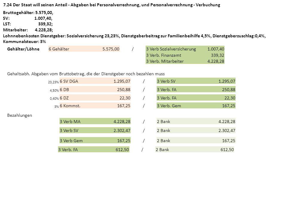 3 Verb Sozialversicherung 1.007,40 3 Verb. Finanzamt 339,32