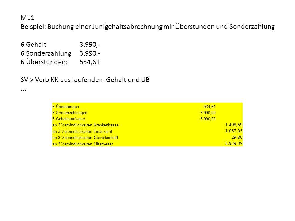 SV > Verb KK aus laufendem Gehalt und UB ...