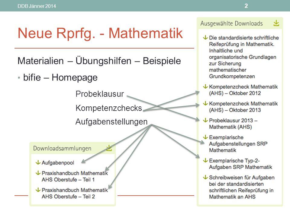 Neue Rprfg. - Mathematik