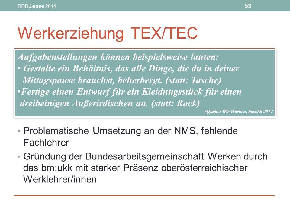 Werkerziehung TEX/TEC