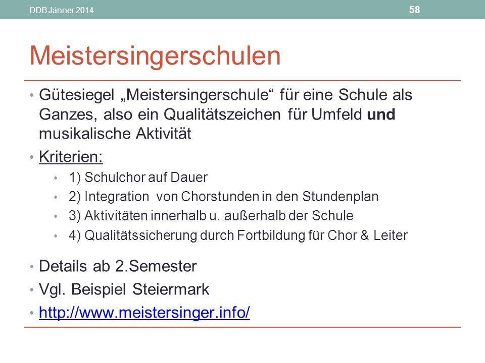 Meistersingerschulen