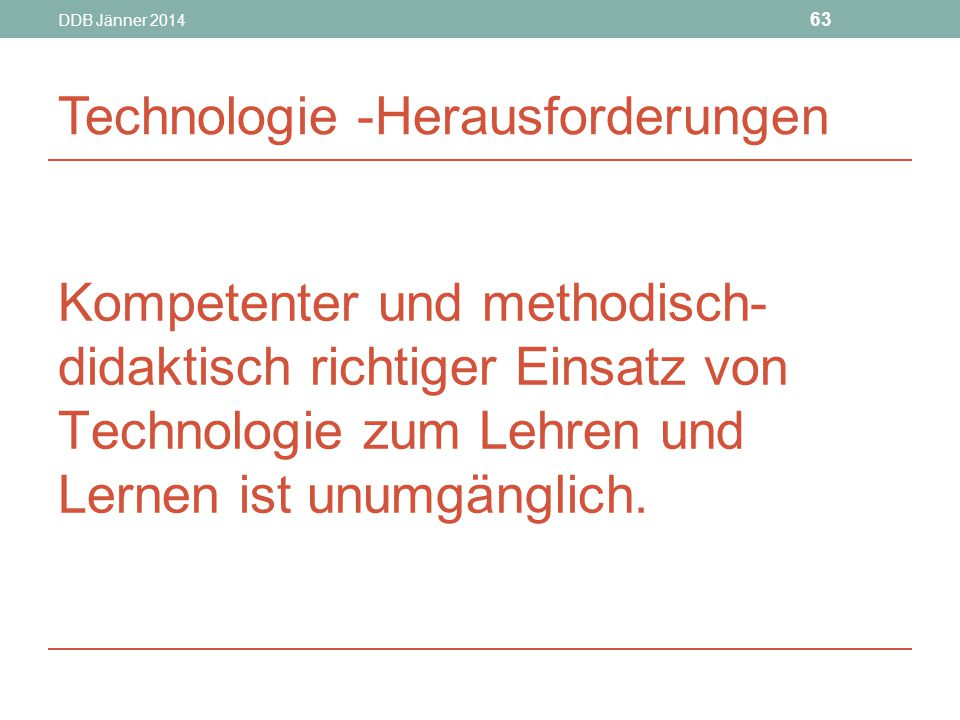 Technologie -Herausforderungen