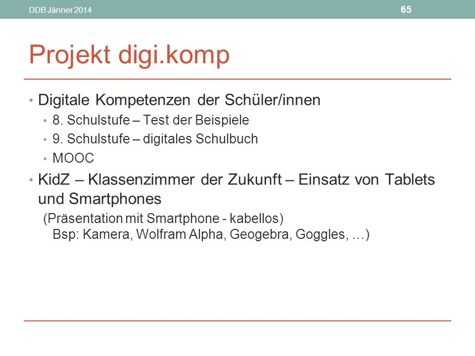 Projekt digi.komp Digitale Kompetenzen der Schüler/innen