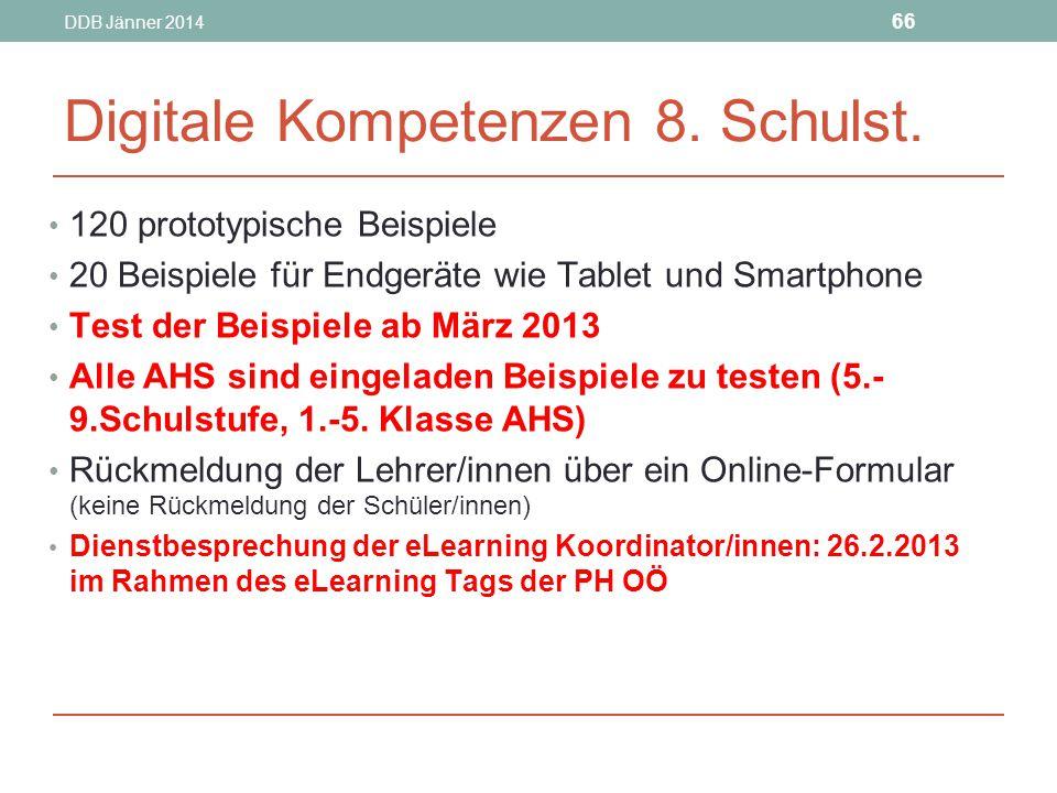 Digitale Kompetenzen 8. Schulst.