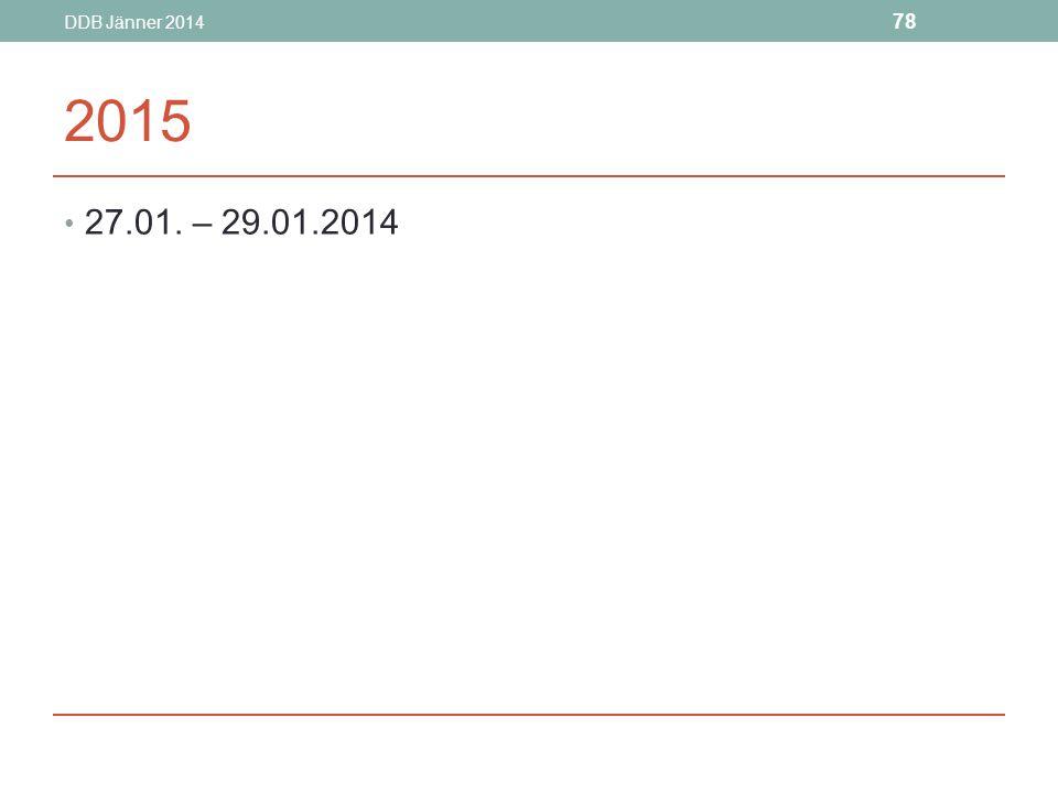 DDB Jänner 2014 2015 27.01. – 29.01.2014