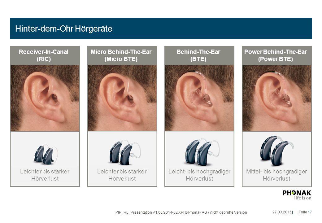 Hinter-dem-Ohr Hörgeräte