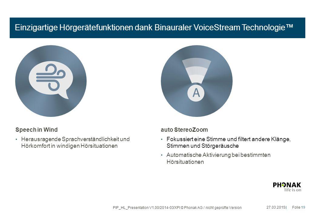 Einzigartige Hörgerätefunktionen dank Binauraler VoiceStream Technologie™