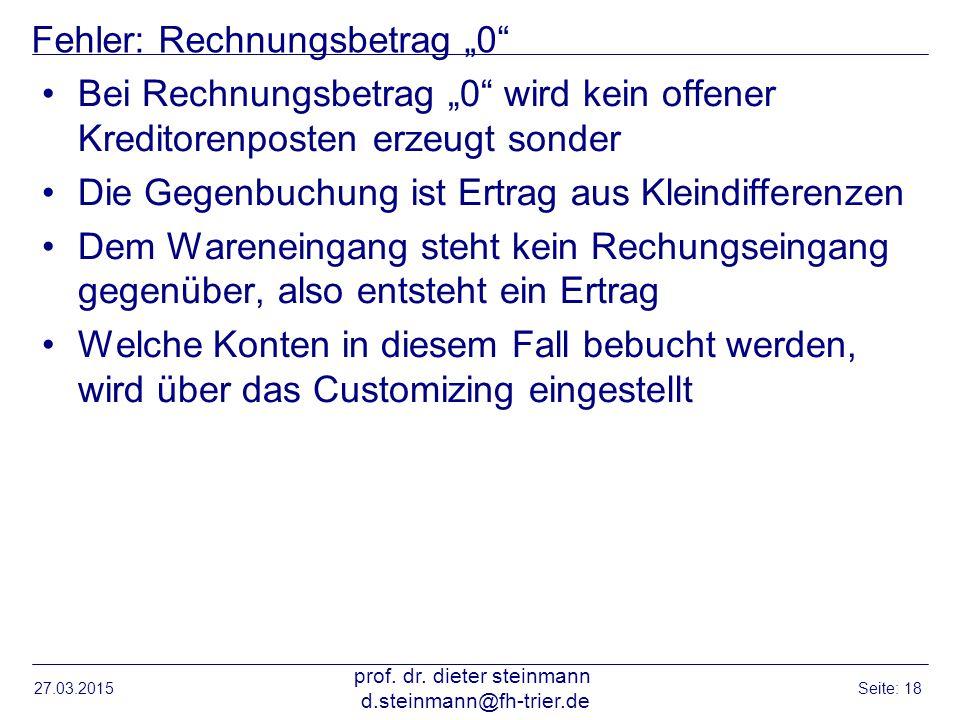 """Fehler: Rechnungsbetrag """"0"""