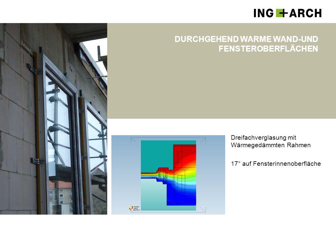 Durchgehend warme Wand-und Fensteroberflächen