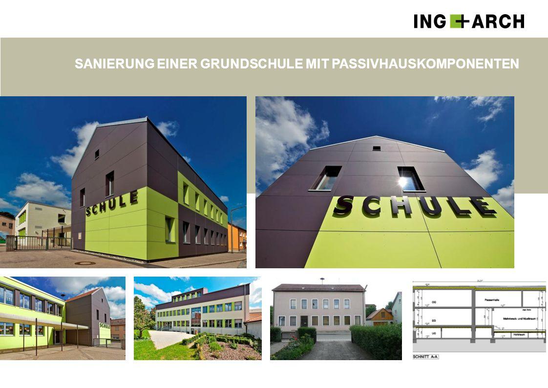 Sanierung einer Grundschule mit Passivhauskomponenten