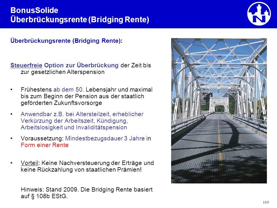 BonusSolide Überbrückungsrente (Bridging Rente)