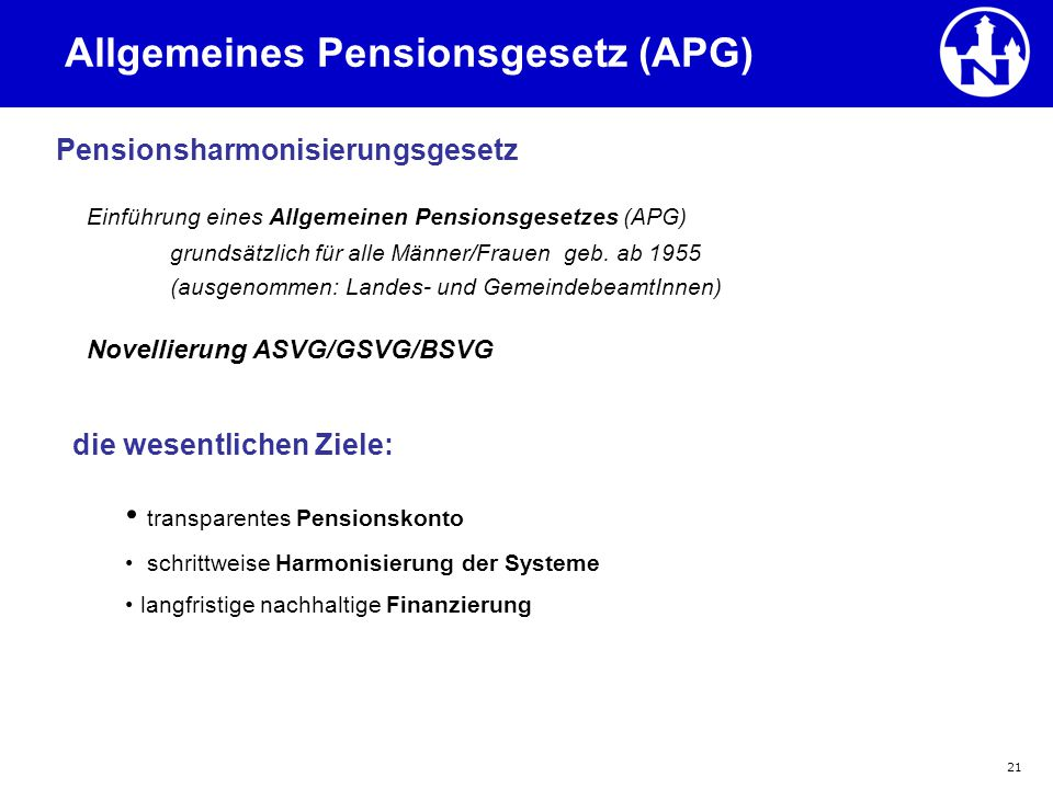 Allgemeines Pensionsgesetz (APG)
