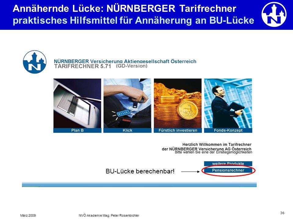 Annähernde Lücke: NÜRNBERGER Tarifrechner praktisches Hilfsmittel für Annäherung an BU-Lücke