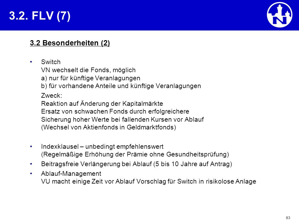 3.2. FLV (7) 3.2 Besonderheiten (2)