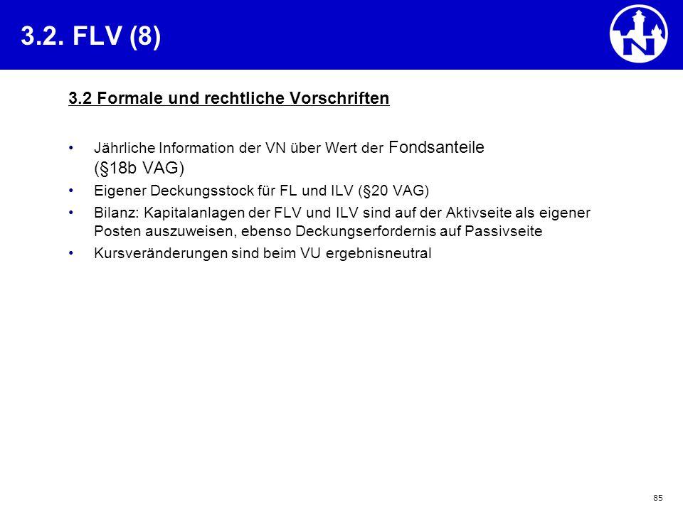 3.2. FLV (8) 3.2 Formale und rechtliche Vorschriften