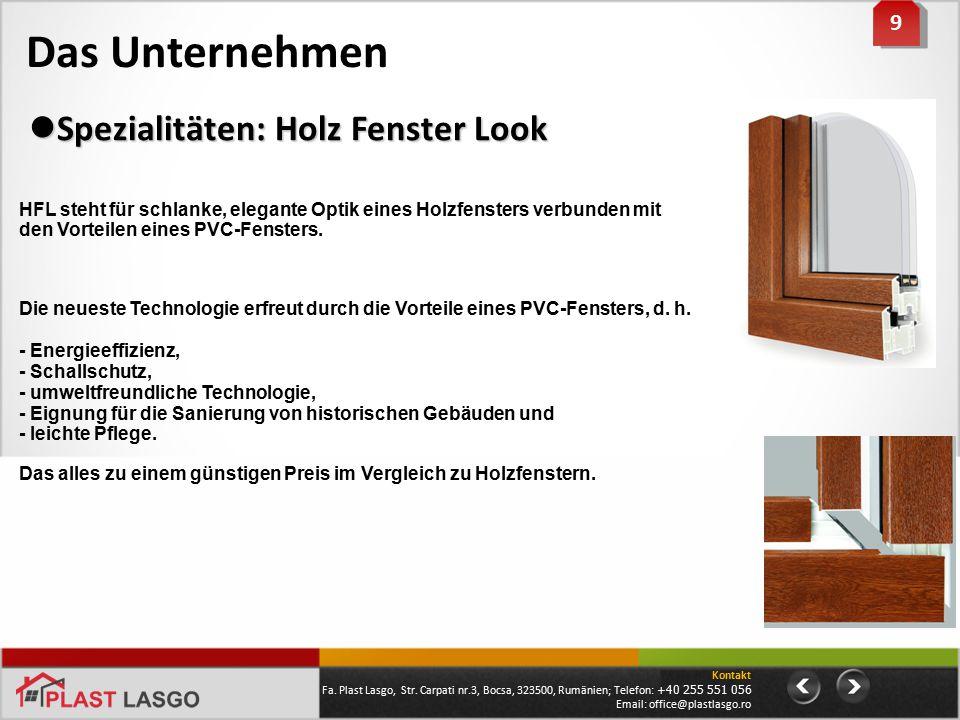 Das Unternehmen Spezialitäten: Holz Fenster Look 9