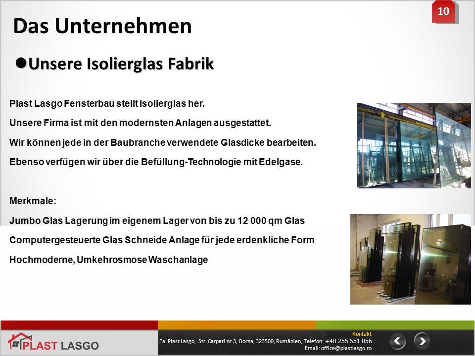 Das Unternehmen Unsere Isolierglas Fabrik 10