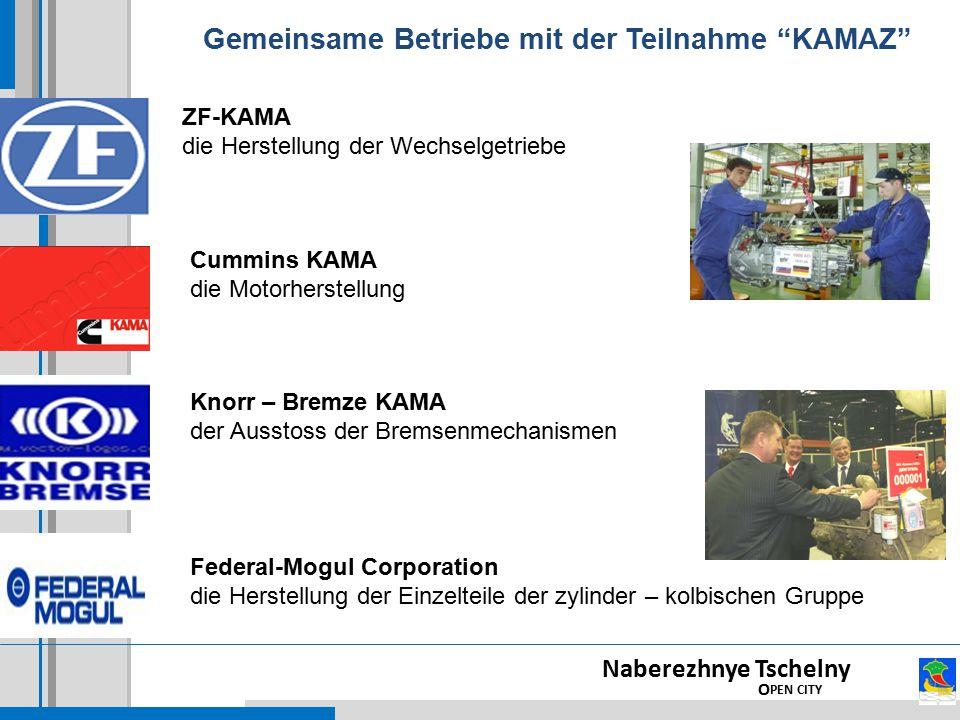 Gemeinsame Betriebe mit der Teilnahme KAMAZ
