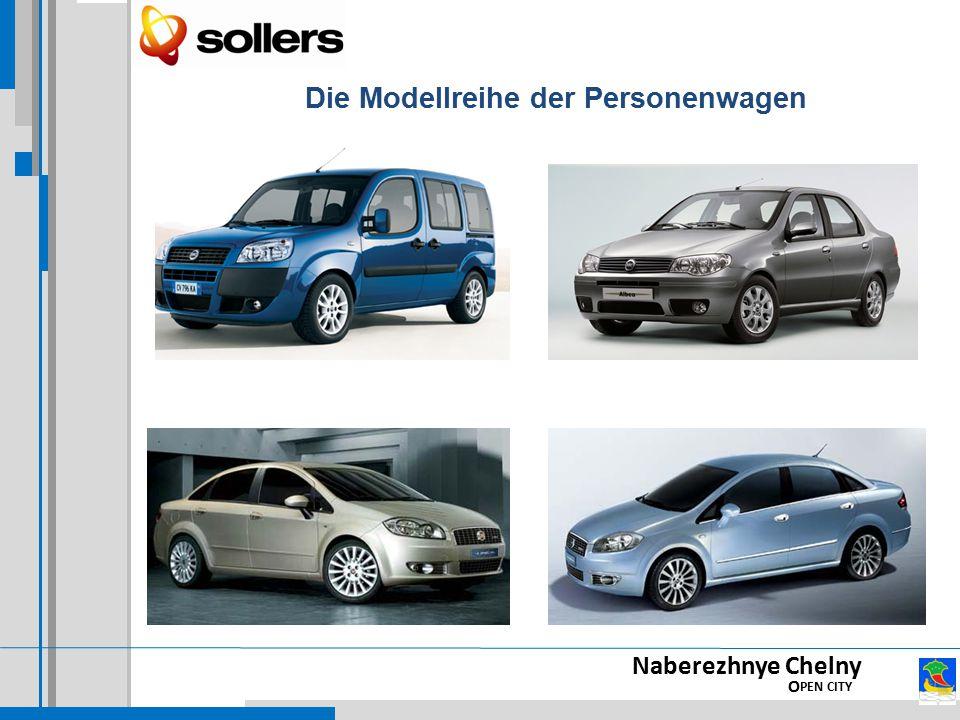 Die Modellreihe der Personenwagen