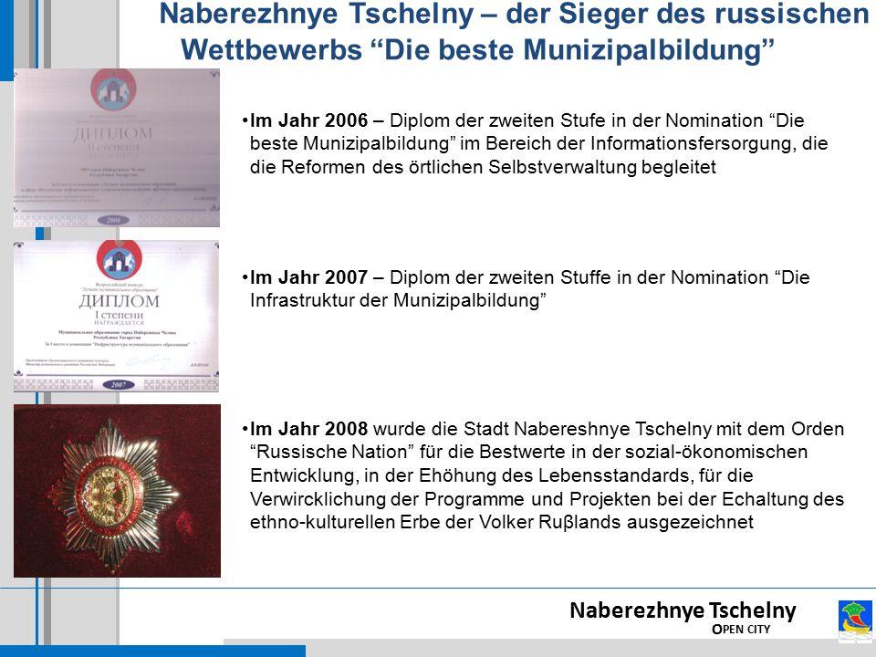 Naberezhnye Tschelny – der Sieger des russischen Wettbewerbs Die beste Munizipalbildung
