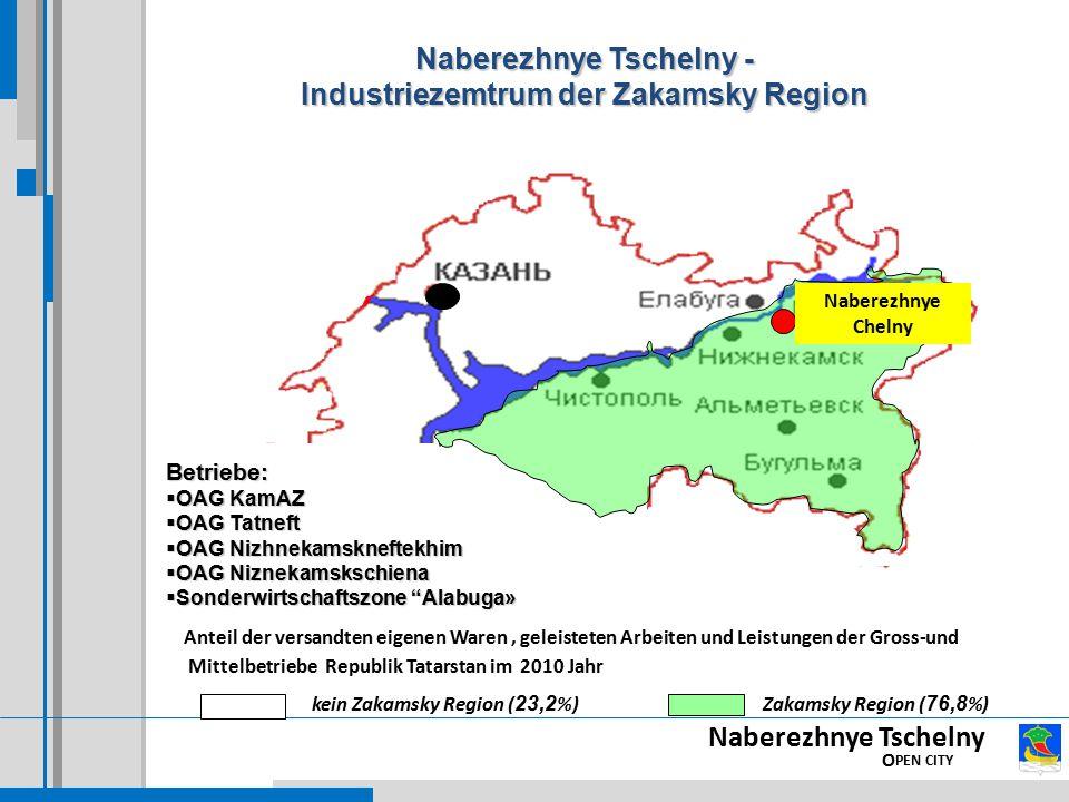 Naberezhnye Tschelny - Industriezemtrum der Zakamsky Region
