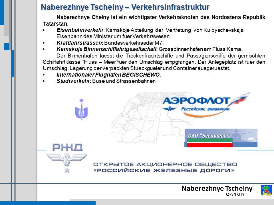 Naberezhnye Tschelny – Verkehrsinfrastruktur