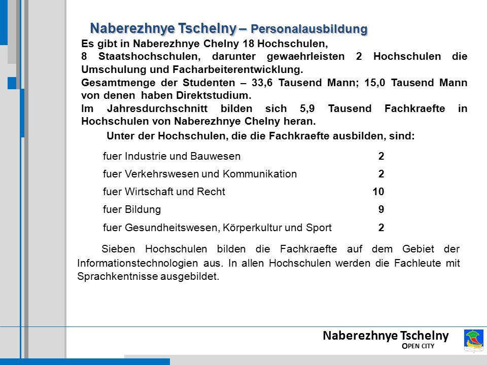Naberezhnye Tschelny – Personalausbildung