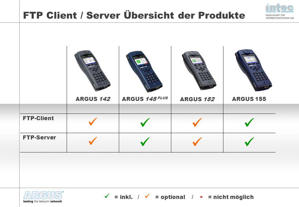 FTP Client / Server Übersicht der Produkte
