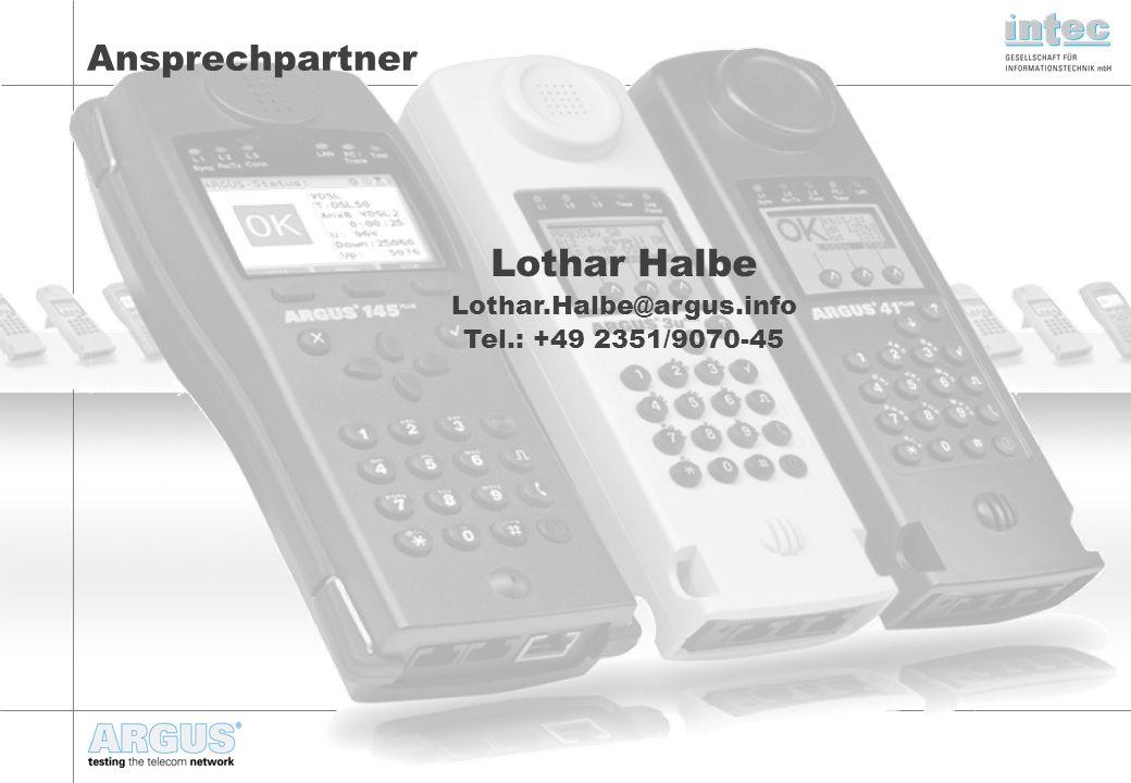 Lothar Halbe Ansprechpartner Lothar.Halbe@argus.info