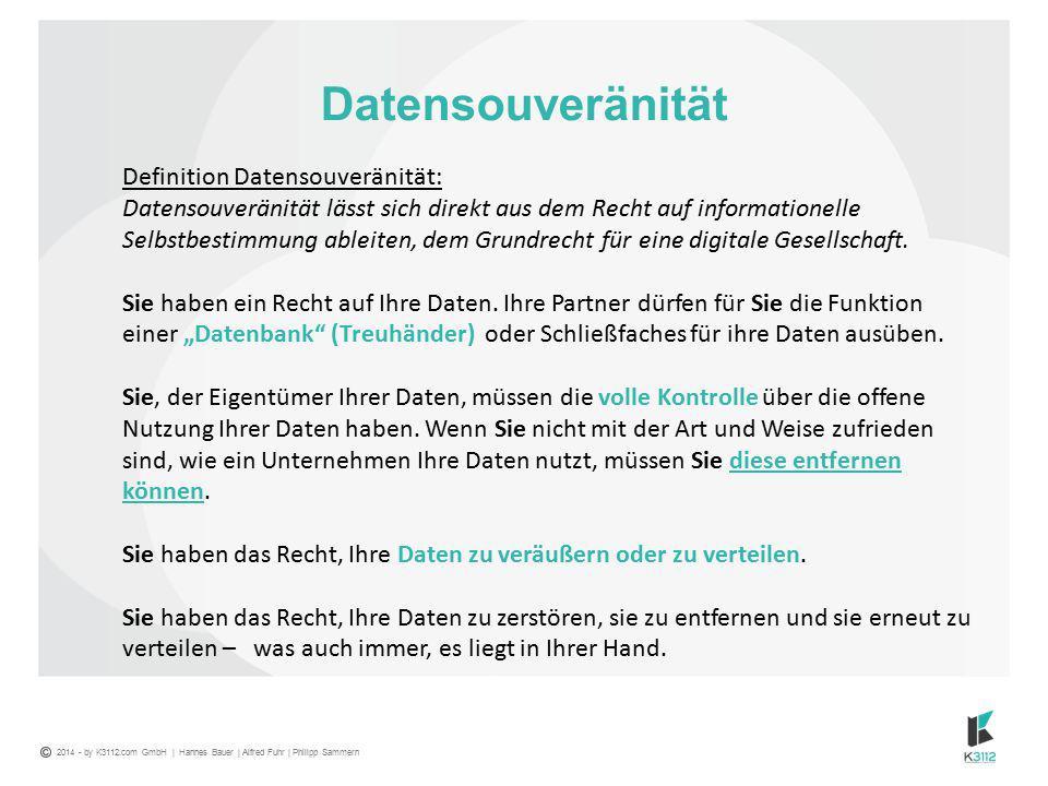 Datensouveränität Definition Datensouveränität: