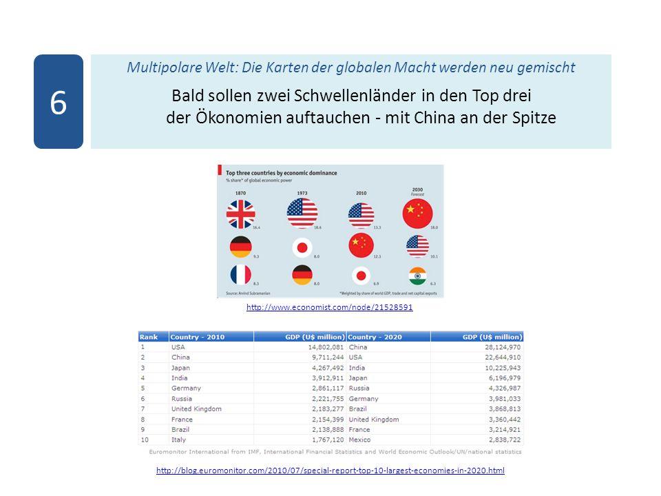 Multipolare Welt: Die Karten der globalen Macht werden neu gemischt