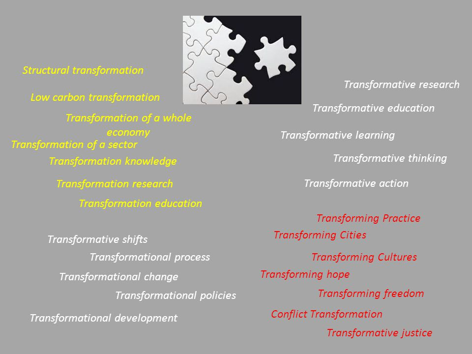 Structural transformation Transformative research