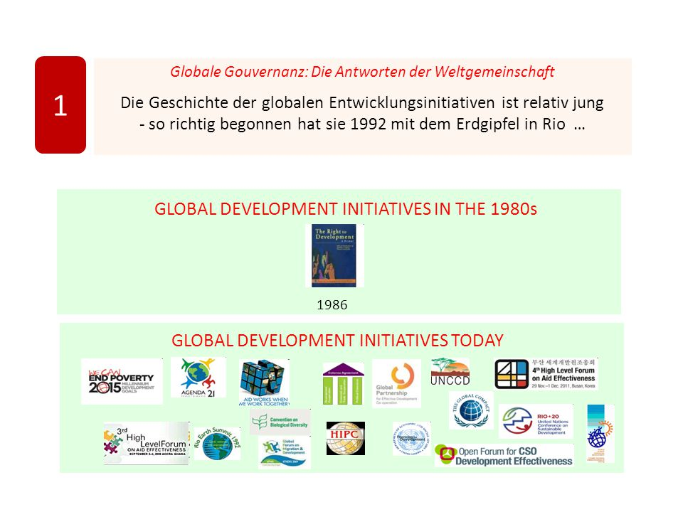 1 GLOBAL DEVELOPMENT INITIATIVES IN THE 1980s