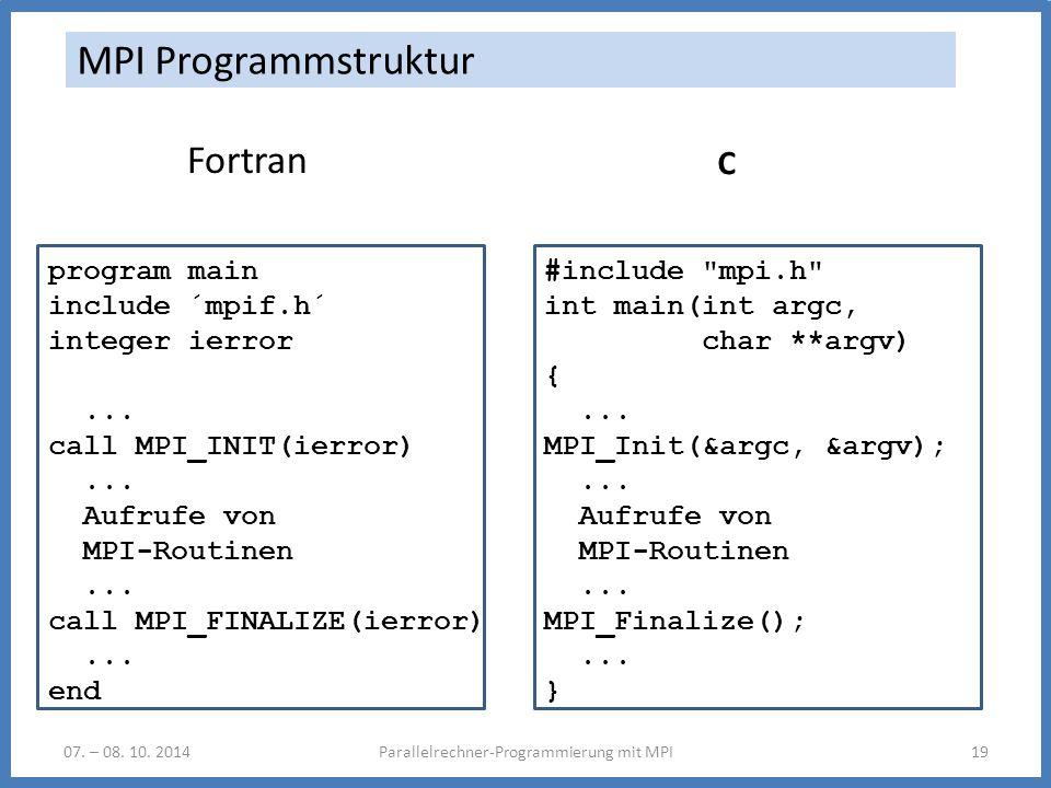 Parallelrechner-Programmierung mit MPI