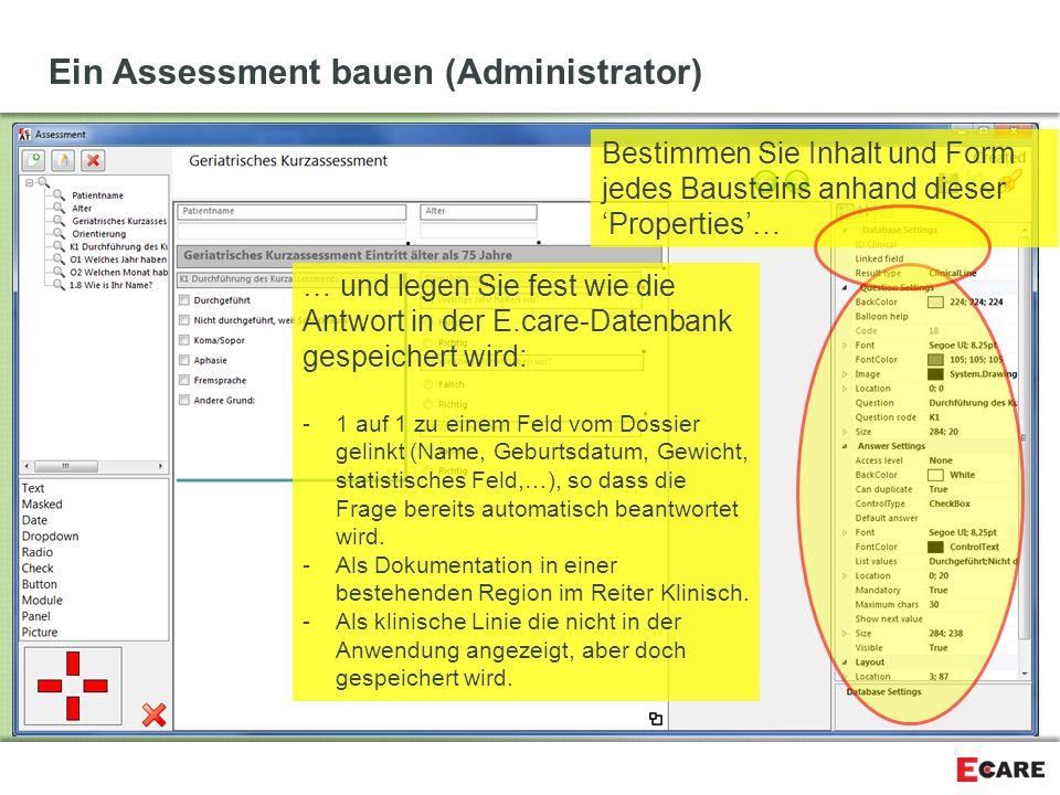 Ein Assessment bauen (Administrator)