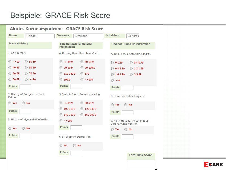 Beispiele: GRACE Risk Score