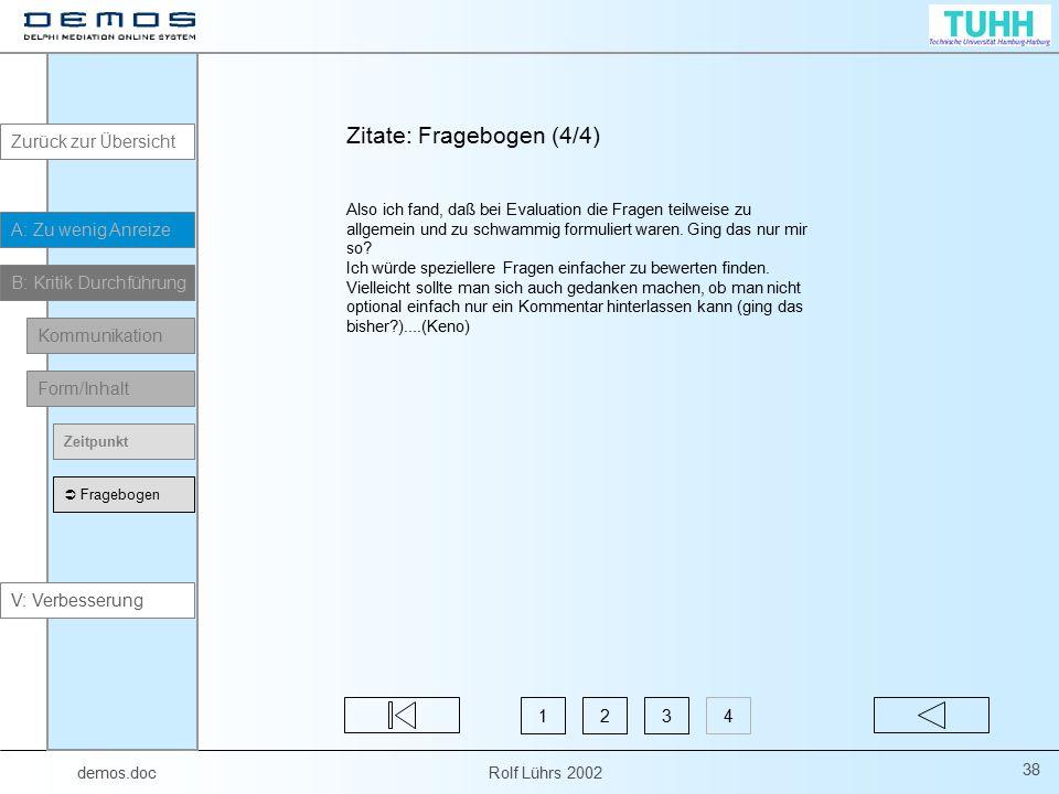 Zitate: Fragebogen (4/4)