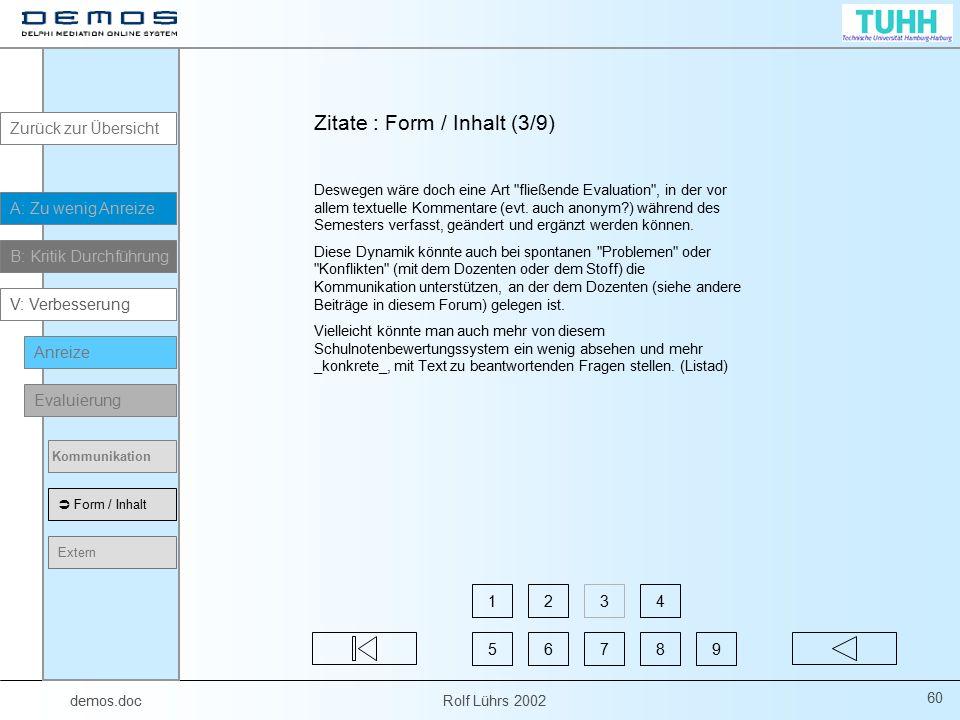 Zitate : Form / Inhalt (3/9)