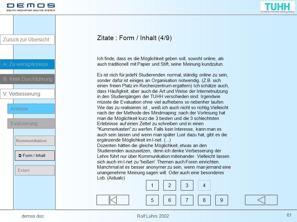 Zitate : Form / Inhalt (4/9)